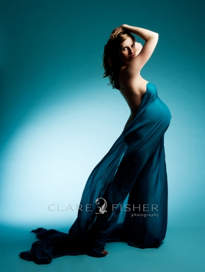 maternity portrait photography NYC_flowing teal