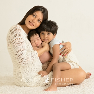 Family of three newborn photograph