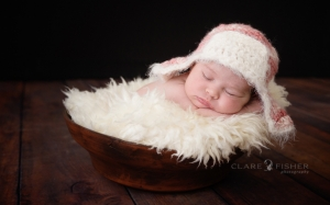 newborn girl pink aviator hat