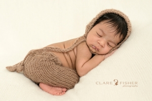 Newborn brown hat and pants