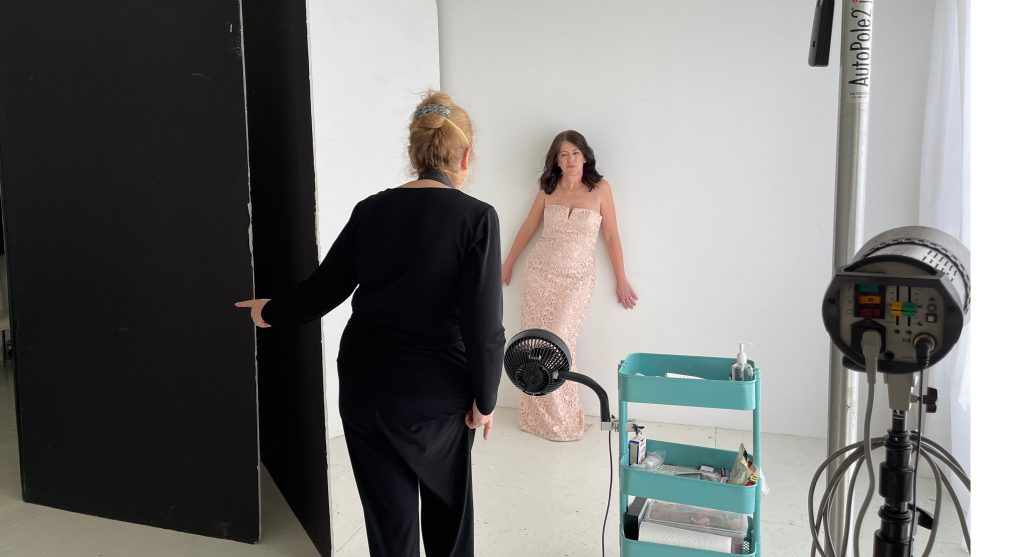 Behind the scenes during a 50 over 50 session